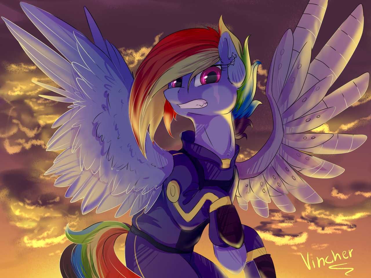 Rainbow Dash by Vincher on DeviantArt: https://vincher.deviantart.com/art/Rainbow-Dash-586241541