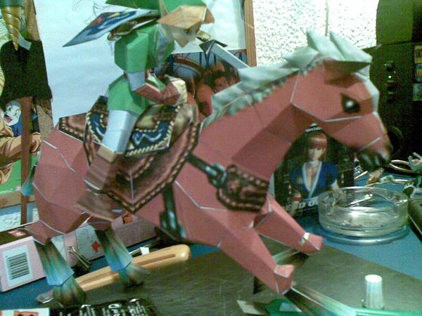 link and epona papercraft by Spiral-simon