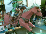 link and epona papercraft