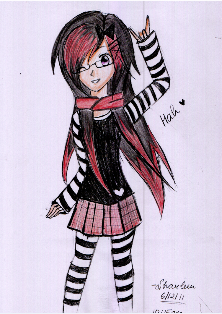 emo anime with glasses by sharleen018 on deviantart