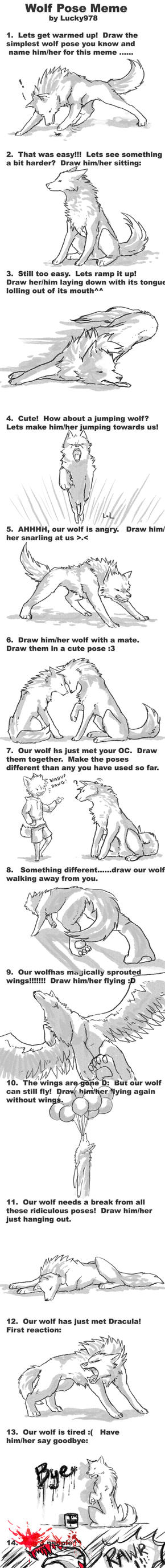 Wolf Pose Meme by ByoWT1125