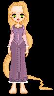 Rapunzel Pixel Doll by xxbrighidxx