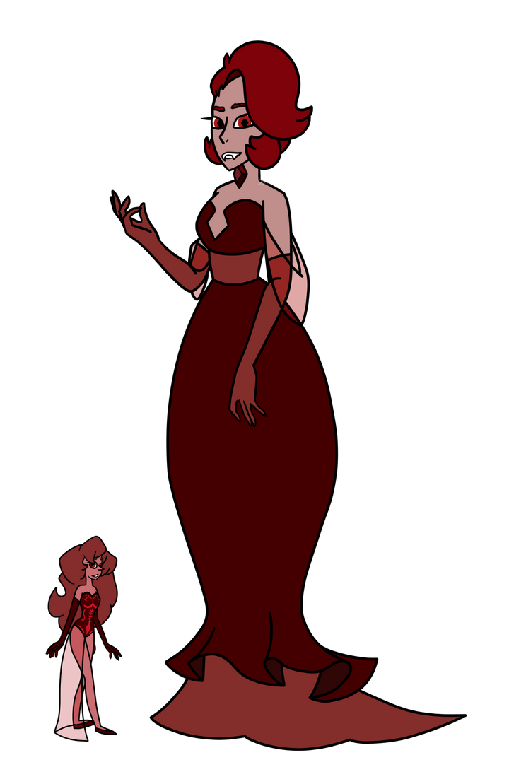Red Diamond and Red Pearl [REDESIGN] by AnOverworkedAngel