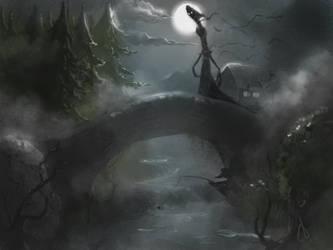 Lone in the darkest night by OnionINK