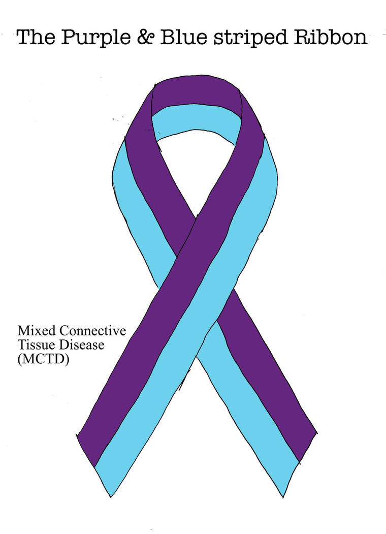 The Purple and Blue Striped Suicide Ribbon Teal Purple