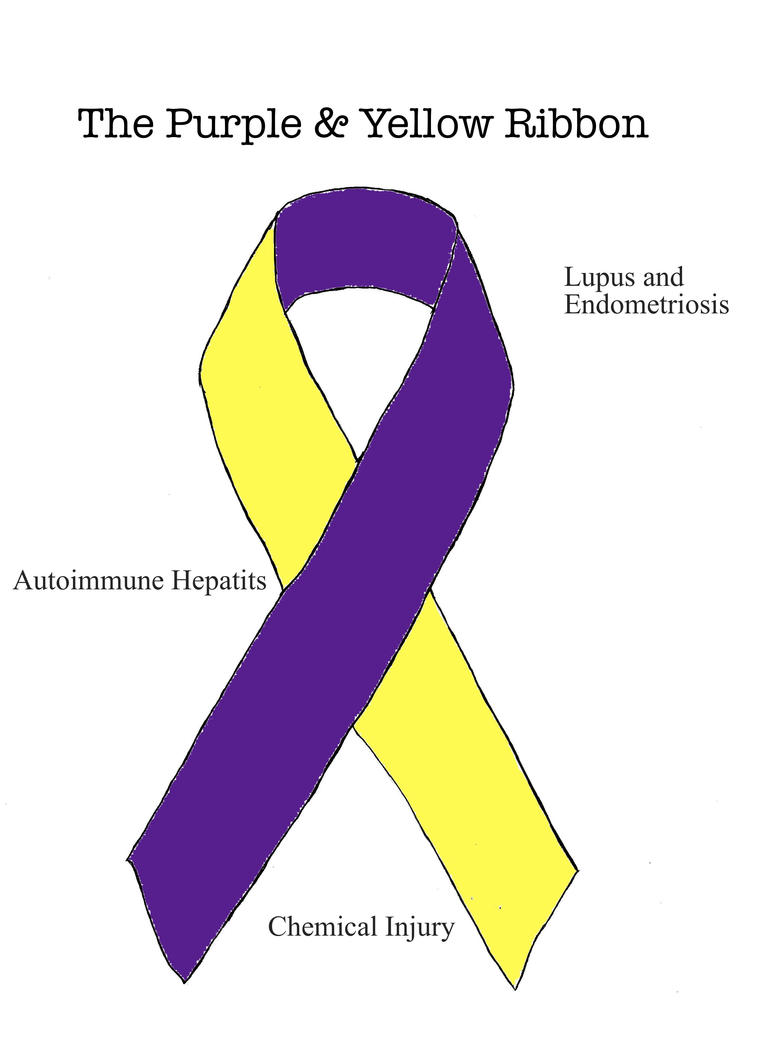 The Purple And Yellow Ribbon Suicide Ribbon Teal Purple
