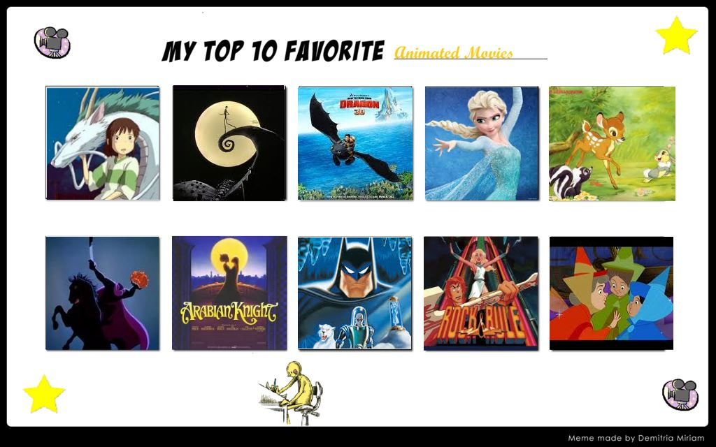 My Top 10 Favorite Animated Movies by ryu-ren