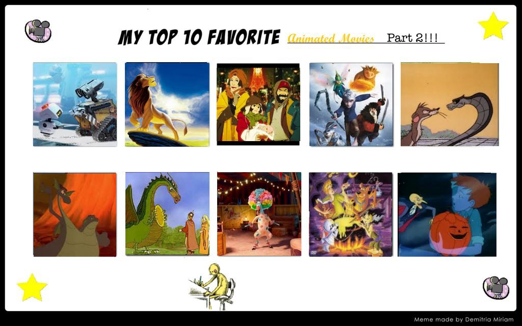 My Top 10 Favorite Animated Movies Part 2 by ryu-ren
