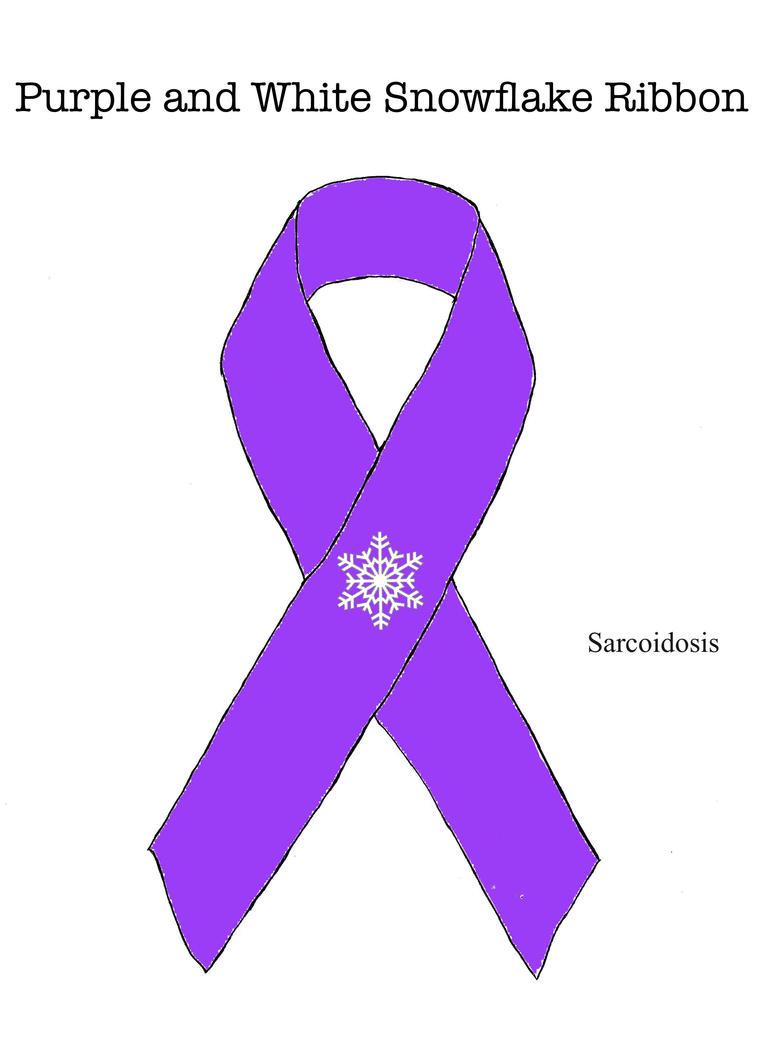 Purple Ribbon with White Snowflake by ryu-ren