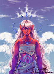 Red Elf Sky God by SilverTarandus