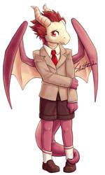 Anthro Dragon Oki by SilverTarandus