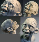 Smeagol close up.