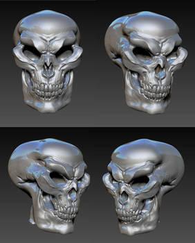 glazed skull