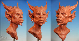 Punk Demon bust by MarkNewman