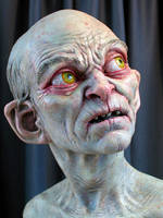 painted gollum by MarkNewman