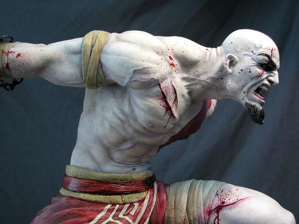 Kratos sculpt by MarkNewman