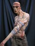 Frankenstein painted close up