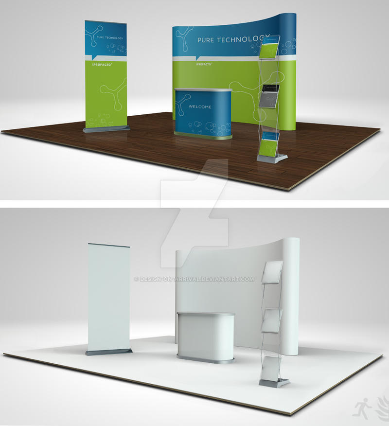 Trade Show Booth Layout : Trade show booth mock up by design on arrival deviantart