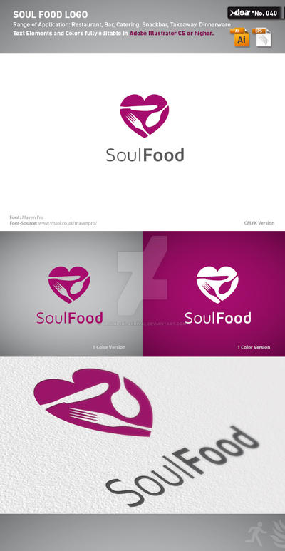 Soul Food Logo by design-on-arrival