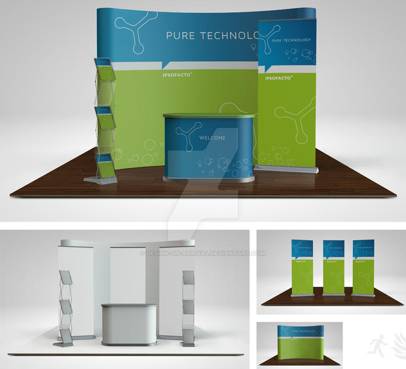 Trade Show Booth Layout : Trade show booth mock up part by design on arrival