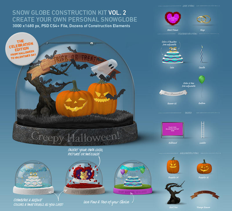 DOA Snow Globe Construction Kit 02 Celebration Kit by design-on-arrival