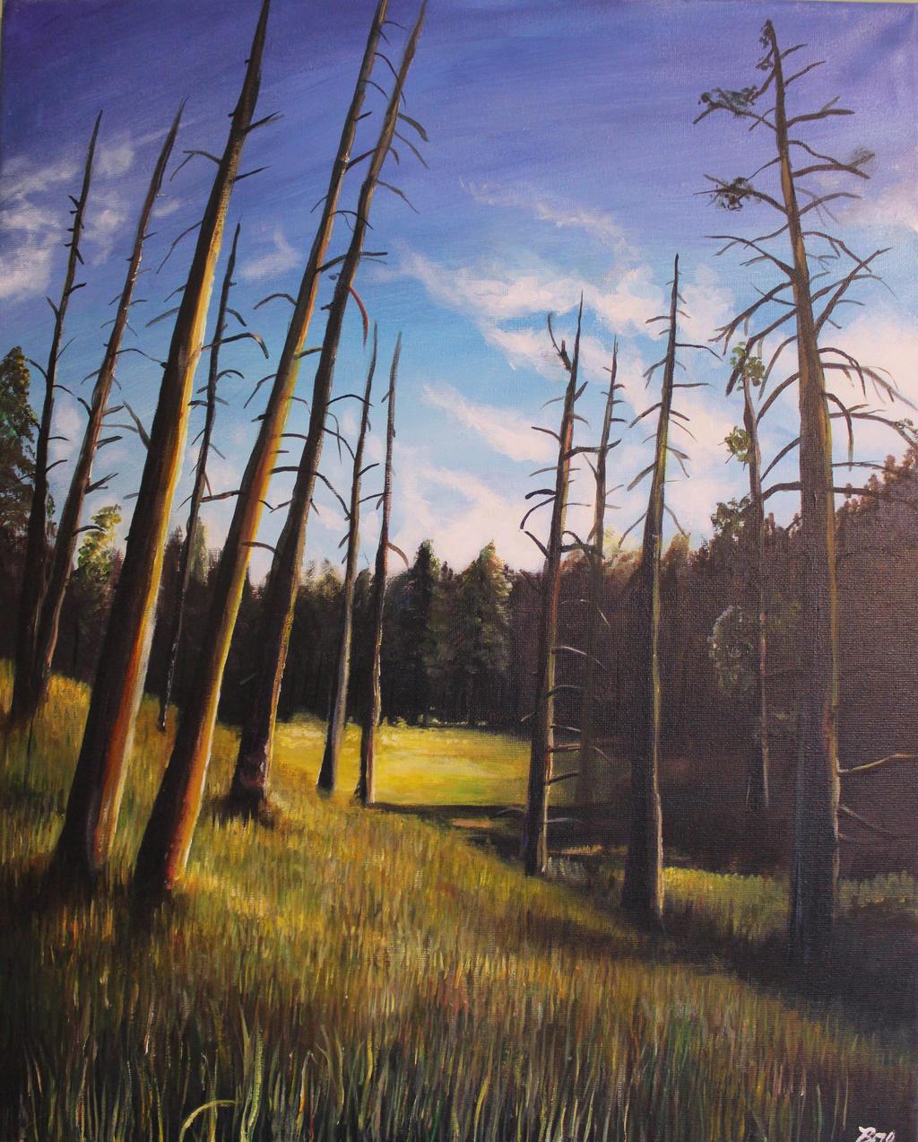 Dead Tree Landscape by Marybriannemckay