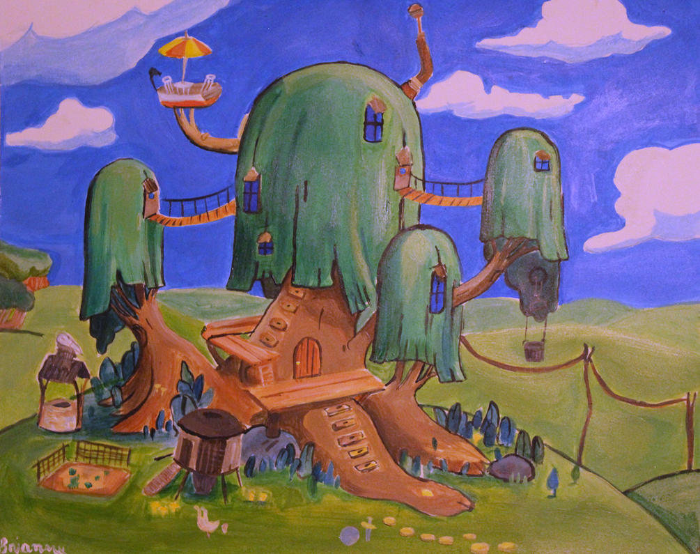 Adventure Time Landscape by Marybriannemckay
