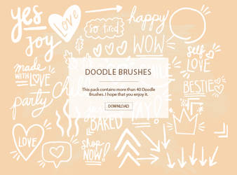 +Doodle Brushes | P A C K # 3
