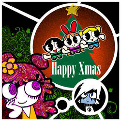 Happy Xmas AmiYumi PPG by Sukapon-ta