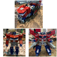 Tf siege galaxy upgrade Optimus prime by pugwash1