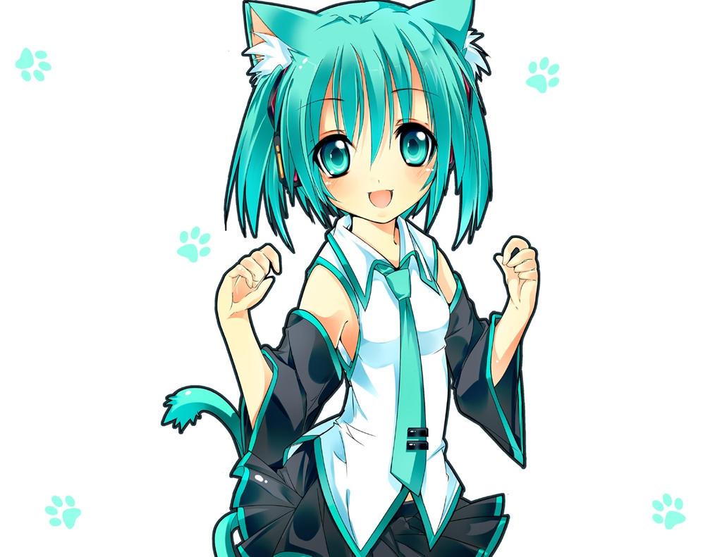 chibi neko hatsune miku by renxrin on DeviantArt