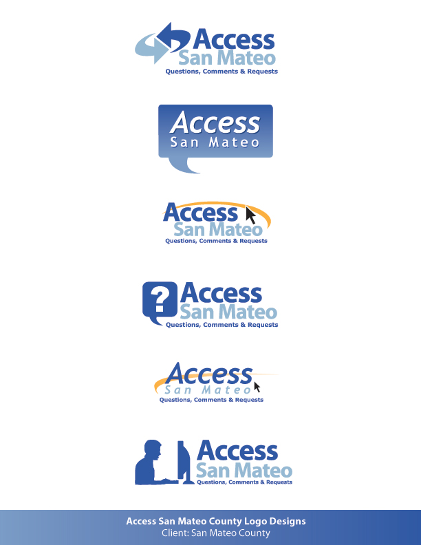 Access San Mateo County Logo by montia