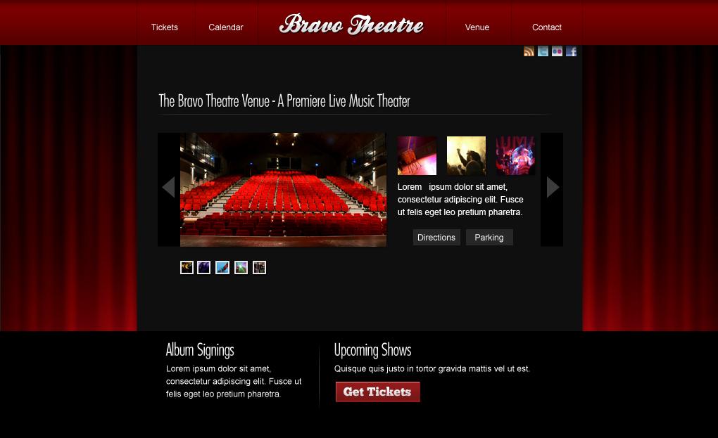 Bravo Theatre Web Design