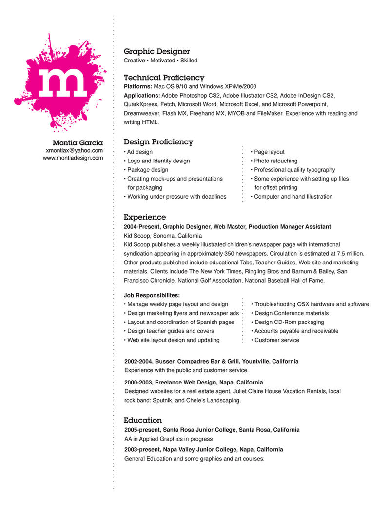 my resume by montia my resume by montia
