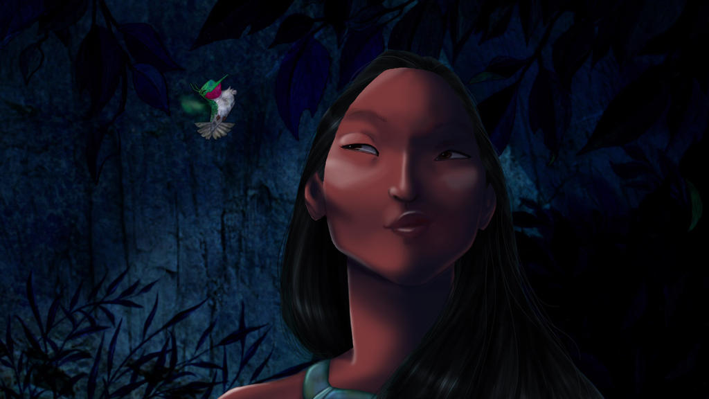 Disney Screencap re-shade - Pocahontas by Ollinatl