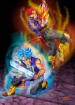 Trunks Red , Trunks Blue. by Ollinatl