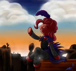 Pinkiepie with sunset