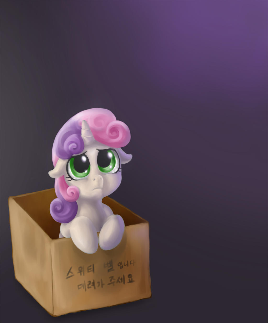 Poor Sweetie Belle by mrs1989