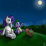 Spike and Rarity