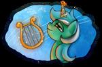 Lyra is playing lyra