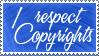 Copyrights Stamp