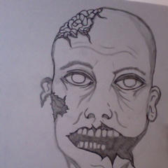 Zombie sketch. Inspired by The Walking Dead