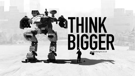 Think Bigger 16:9 by qwertyDesign