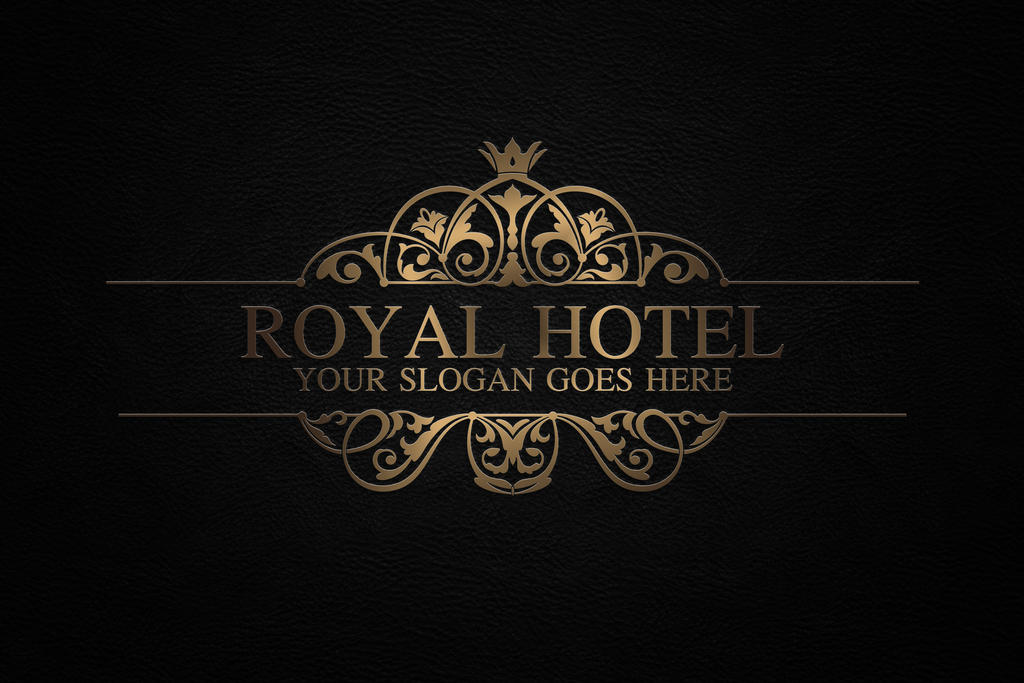 royal hotel logo template by thiepart on deviantart. Black Bedroom Furniture Sets. Home Design Ideas