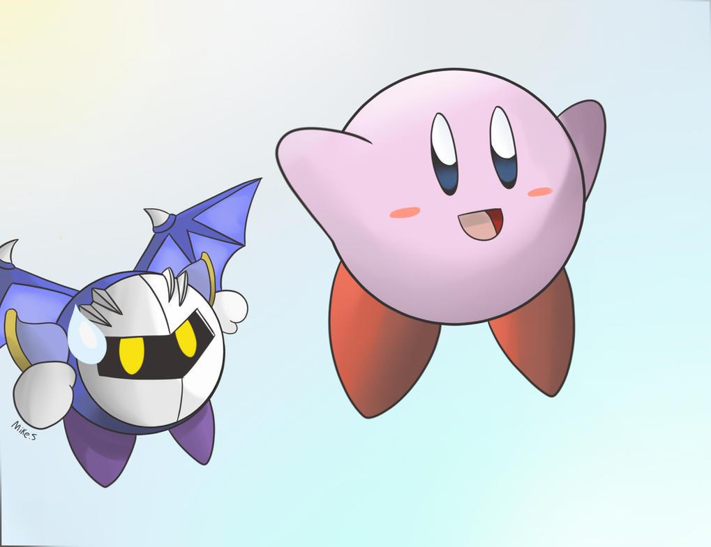 Kirby and Meta Knight by supereva01 on DeviantArt