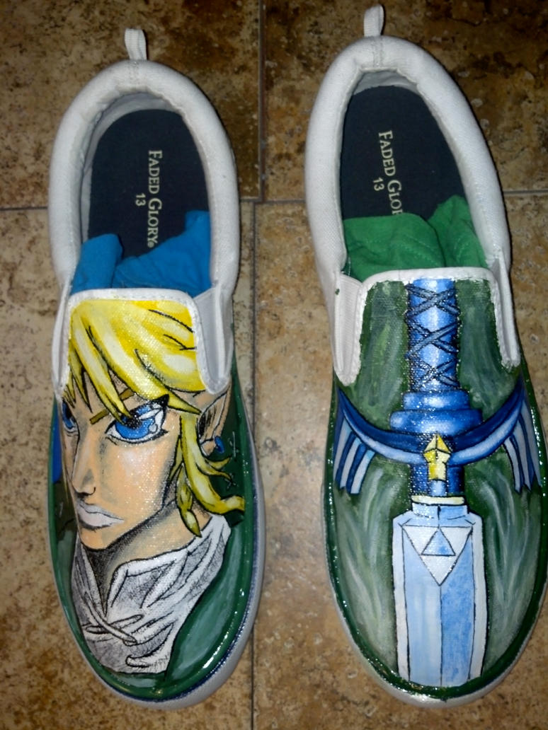 Skyward Sword Custom Canvas Shoes by Acrylicolt