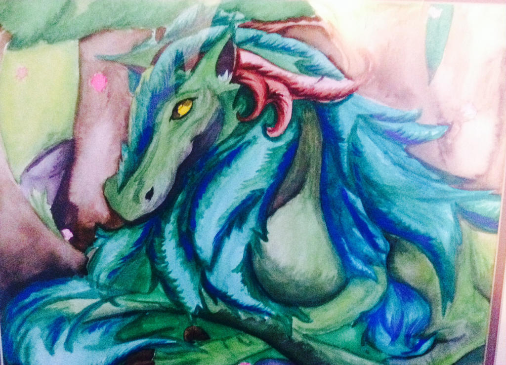 Watercolor Spirit of The Forest by Amyxkuzunoha1997