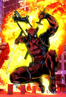 Deadpool Sketch By Ratkins Colored by royhobbitz