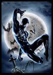 Symbiote Spider-man Re-Colored by royhobbitz
