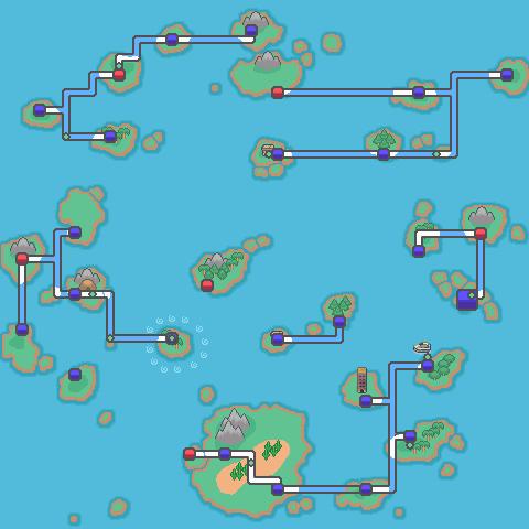 Orange Islands Region Map Hgss Style By Malice936 On Deviantart